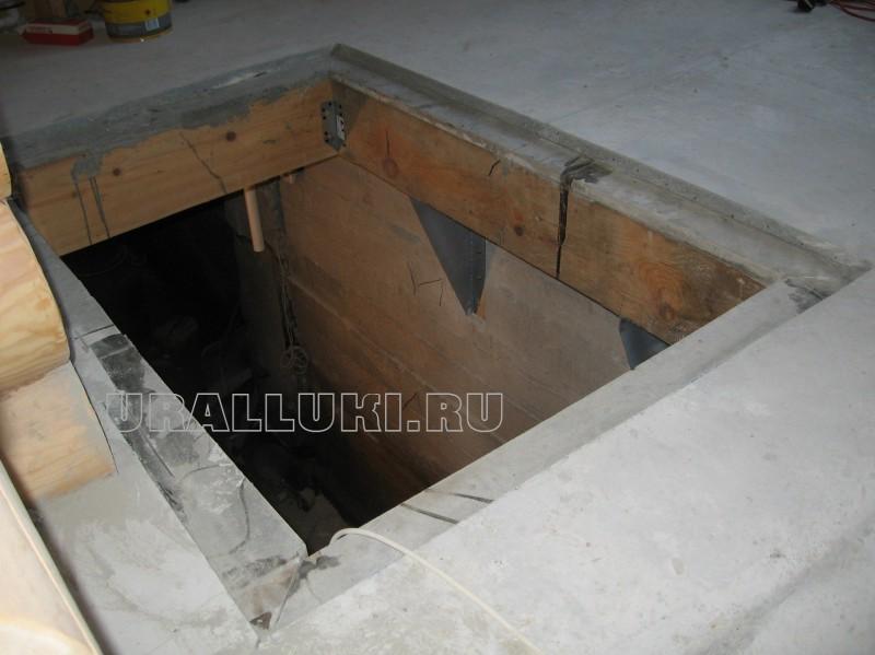 установка люка в полу цена